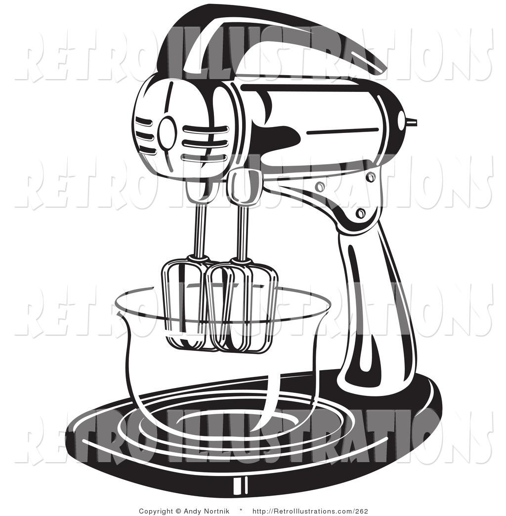 Retro Kitchen Illustration: Royalty Free Cooking Stock Retro Designs