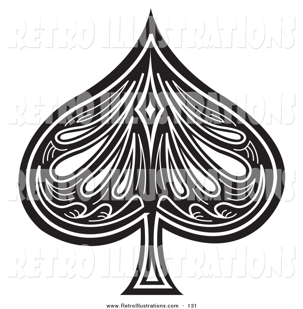 Spade on Playing Card