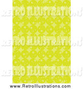 February 16th, 2014: Retro Illustration of a Background of Rows of Lime Green Circles and Diamonds by Suzib_100