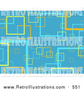 January 3rd, 2016: Retro Illustration of a Blue Background of Yellow, Orange and Blue Transparent Squares by KJ Pargeter