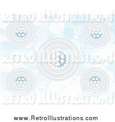 Retro Illustration of a Blue Gear and Circle Background Pattern by Mheld