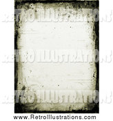 August 26th, 2014: Retro Illustration of a Border of Grunge and Watermarks on an off White Stationery Background by KJ Pargeter