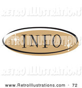 Retro Illustration of a Brown Information Website Button That Could Link to an Information Page on a Site by Andy Nortnik