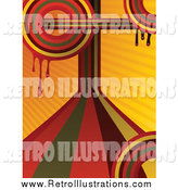 February 5th, 2014: Retro Illustration of a Dripping Orange Retro Rainbow Background by Elaineitalia