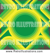 Retro Illustration of a Green, Brown and Yellow Background by Arena Creative