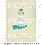 Retro Illustration of a Nautical Lighthouse by Eugene
