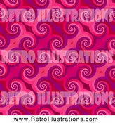 Retro Illustration of a Pink Curl Pattern Backgrouns by Arena Creative