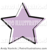 June 13th, 2012: Retro Illustration of a Purple Star Shape Outlined in Black by Andy Nortnik