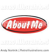 May 27th, 2012: Retro Illustration of a Red About Me Internet Website Blog Button by Andy Nortnik