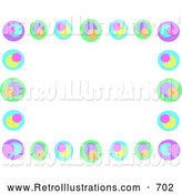 December 12nd, 2013: Retro Illustration of a Retro Colorful Circle Border by Bpearth