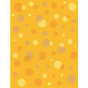 Retro Illustration of a Retro Orange Background with Colorful Bubbles and Dots by Andy Nortnik