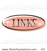 Retro Illustration of a Retro Pink Links Website Button That Could Link to a References or Suggested Sites Page on a Site by Andy Nortnik
