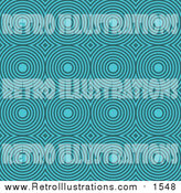 Retro Illustration of a Retro Turquoise Circle Pattern by KJ Pargeter