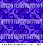Retro Illustration of a Spiraling Purple Pattern Background by Arena Creative