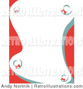 Retro Illustration of a Stationery Background with Christmas Wreaths by Andy Nortnik