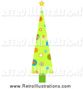 February 14th, 2014: Retro Illustration of a Tall Retro Christmas Tree by BNP Design Studio