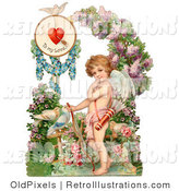 Retro Illustration of a Vintage Cupid Valentine by OldPixels