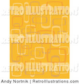 Retro Illustration of an Abstract Orange Background with Box Designs by Andy Nortnik