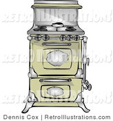 Retro Illustration of an Old Fashioned Stove by Djart