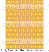 Retro Illustration of an Orange Background with Colorful Diamond Pattern by Andy Nortnik