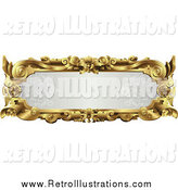 Retro Illustration of an Ornate Gold Frame with Text Space by AtStockIllustration