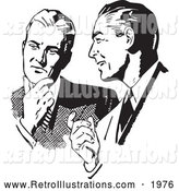 December 4th, 2013: Retro Illustration of Businessmen Talking in Black and White by BestVector
