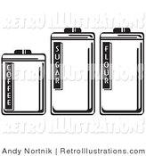 Retro Illustration of Kitchen Canisters by Andy Nortnik