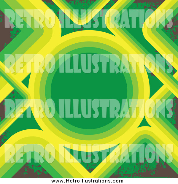 Retro Illustration of a Green, Brown and Yellow Background
