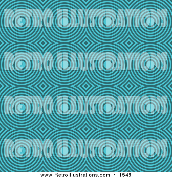 Retro Illustration of a Retro Turquoise Circle Pattern