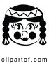 Retro Illustration of a Happy Smiling Native American Indian Girl by Andy Nortnik