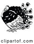 Retro Illustration of a Plump Turkey Bird with His Head Tucked in His Neck by Andy Nortnik