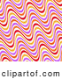 Retro Illustration of a Pretty Background of Wavy Orange, Purple, Red, Yellow and White Lines by KJ Pargeter