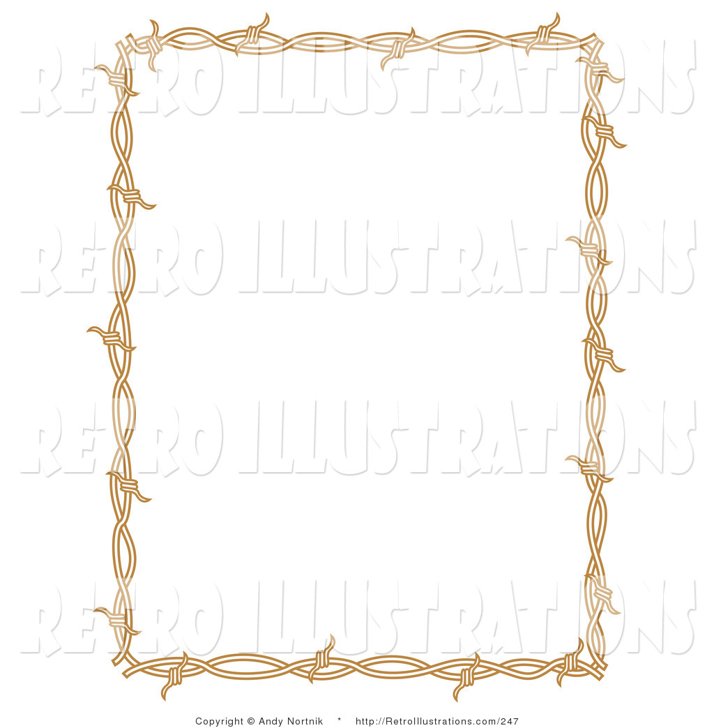 Brown Barb Wire Frame - WIRE Center •